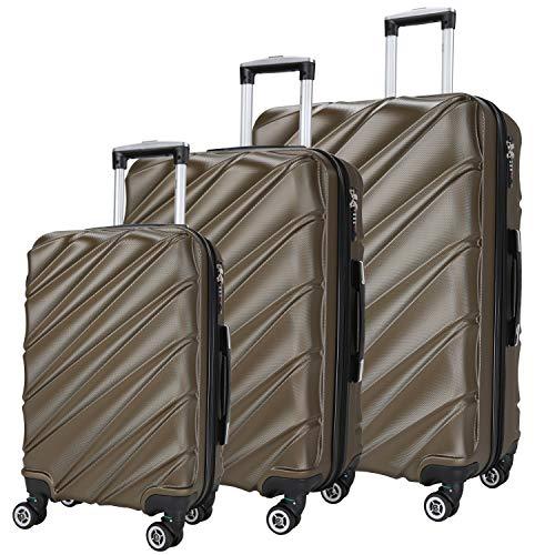 Maletas De Viaje SHAIK Set De 3 Piezas - 40/78/124 Capacidad De...