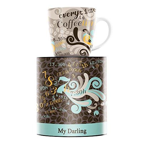 Ritzenhoff My Darling Kaffeebecher, Porzellan, Mehrfarbig, 8.9 cm