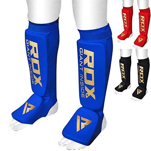 RDX Schienbeinschoner Schienbeinschutz mit Fußfortsatz für Kampfsport