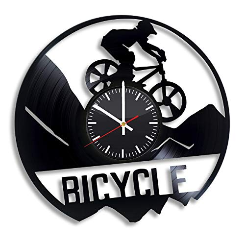 Kross - Reloj de pared de vinilo para bicicleta de montaña,