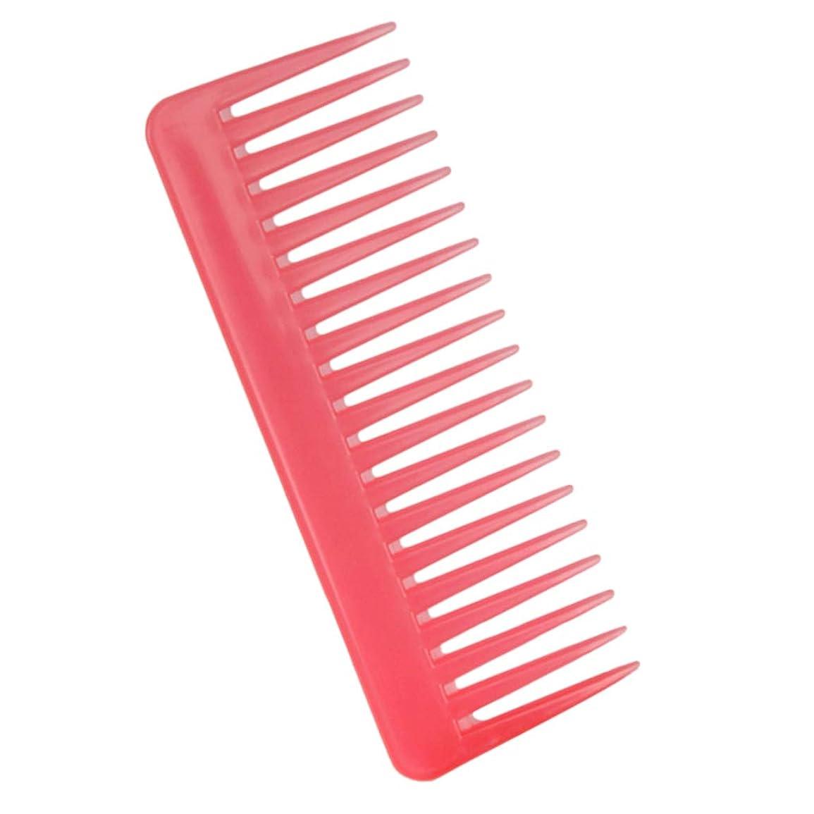 頭痛接続ビデオP Prettyia 帯電防止櫛 ヘアケア ヘアブラシ サロン用 自宅用 ヘアコーム 3色選べ - ピンク