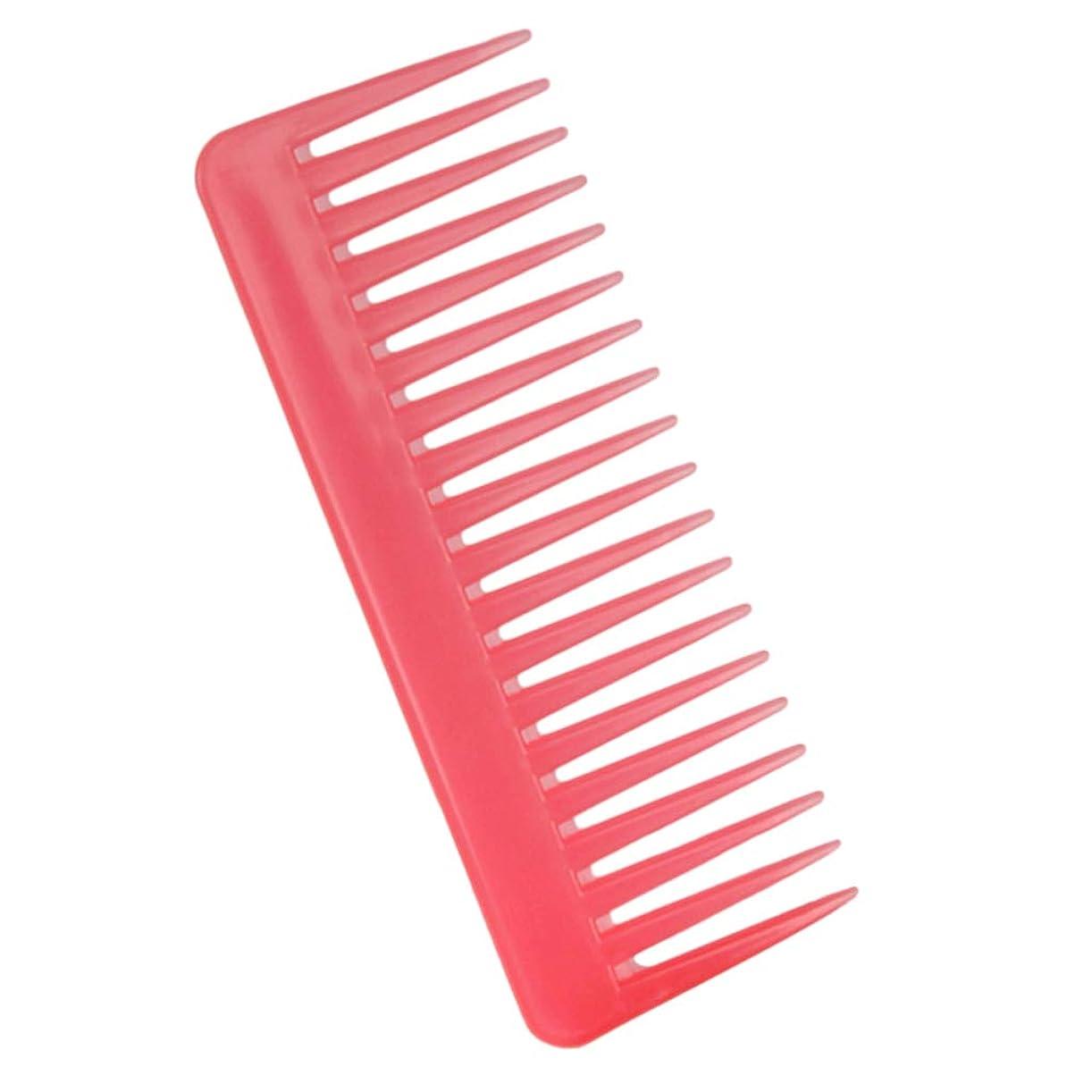 騒乱権利を与えるファッションP Prettyia 帯電防止櫛 ヘアケア ヘアブラシ サロン用 自宅用 ヘアコーム 3色選べ - ピンク