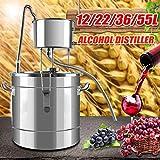 Xin Hai Yuan 12L / 22L / 36L / 55L Destilador del Alcohol Ilegal de Alcohol Inoxidable Cobre DIY Kit Brewing Agua Vino Brewing Kit de Aceite Esencial,55L