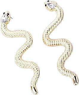 Punk Serpent Huggie Hoop boucles doreilles bijoux animaux pour les femmes