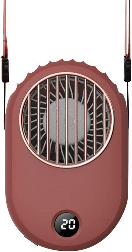Fresno Mall Rongxin Handheld Hanging Neck Now on sale Mini Power with Display Portab Fan