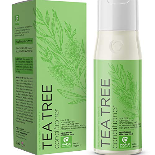 Natural Tea Tree Oil hair Conditioner for Scalp Dandruff and Dry Hair - Pure Essential Oils and Daily Sulfate Free for Sensitive and Color Treated Hair - Keratin Hair Care for Women and Men - 10 oz