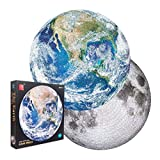 Double Sided 1000 Piece Jigsaw Puzzle - Planet Earth & Moon Puzzle - NASA...