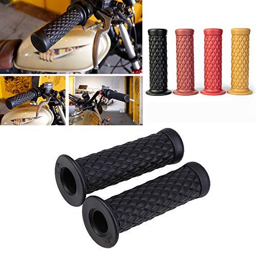 Motorcycle Retro Comfortable Hand Handlebar 7/8' 22mm 1'24mm Non Slip Rubber Handle Grips For Kawasaki Honda Yamaha