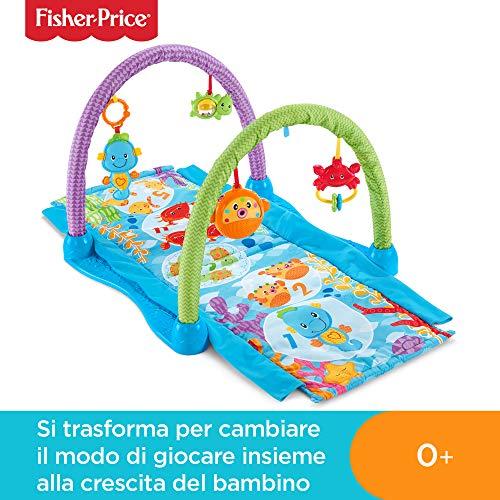 Fisher-Price Palestrina Musicale Amici del Mare con 2 modalità di Gioco, Musica, Luci e Suoni, Tappetino Lavabile, per Neonato dai 0+ Mesi, DRD92