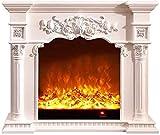 Calentador 220V Tallado Electronic Chimenea, 102 * 33 * 120 cm Cubierta Calefacción Chimenea/Simulación Llama Chimenea Core, Conveniente for la calefacción chimeneas en Apartamentos/Oficinas
