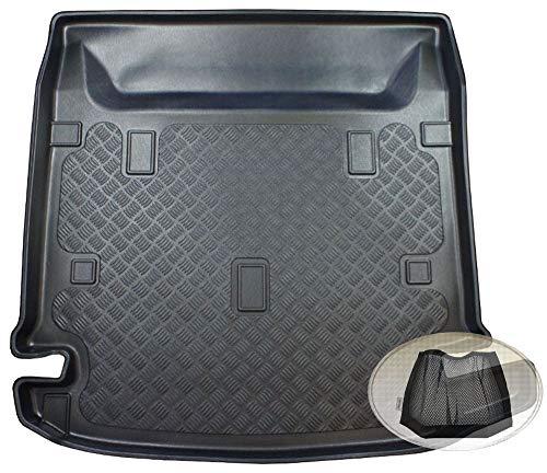 ZentimeX Z3332054 Geriffelte Kofferraumwanne fahrzeugspezifisch + Klett-Organizer (Laderaumwanne, Kofferraummatte)