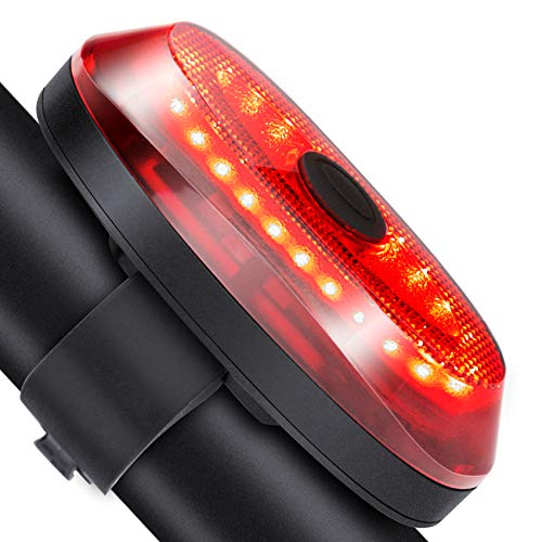 Onvian Smart Bike Tail Light, Ultra Bright USB Rechargeable IP65 Waterproof Auto Brake Sensing Bicycle Rear Lights Easy Mount Cycling Safety Warning Taillight High Lumen Bicycle Rear Light