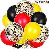 PCS 80- Ballons en latex de confettis,Ensemble de décoration de ballons de...