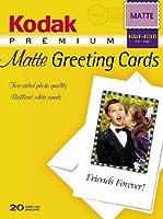 Kodak 1131549 Premium InkJet Matte Greeting Cards (20 Sheets) by Kodak [並行輸入品]