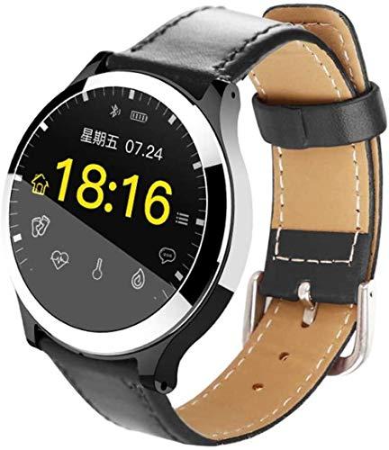 JSL Pantalla de color inteligente pulsera de frecuencia cardíaca presión arterial ECG ECG paso de salud deportes reloj hombres y mujeres-negro1_L