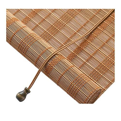 Store Enrouleur Bambou pour l'extérieur, Stores en Bambou Vintage, Stores solaires, Rideau de fenêtre décoratif, pour Patio, Balcon, Jardin, intérieur, Marron