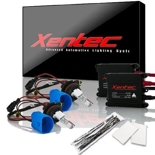 Xentec 9007 (HB5) Hi/Lo 8000K HID Xenon Bulb bundle with 55W EP alloy Slim Ballast (Lightning Blue, high beam halogen)