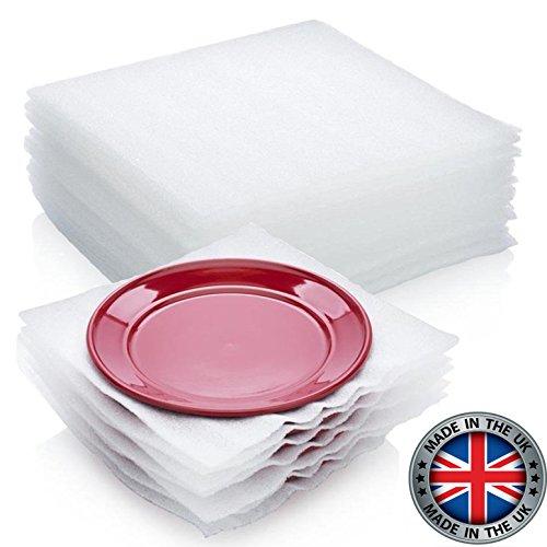 50Stück Schaumstoffverpackung von Veda, Zuschnitte, Verpackungsmaterial für Geschirr, Porzellan, Gläser, Zerbrechliches  in Umzugskartons, Umzugszubehör, 30,5x30,5cm