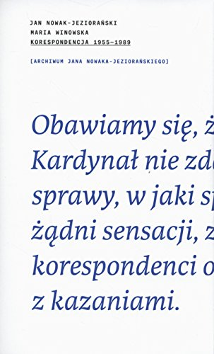 KORESPONDENCJA 1955-1989
