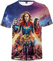 Unisex Camiseta Marvel Avengers Super Hero Quantum Realm 3D Vistoso Impresión T-Shirt, xxs - 4XL