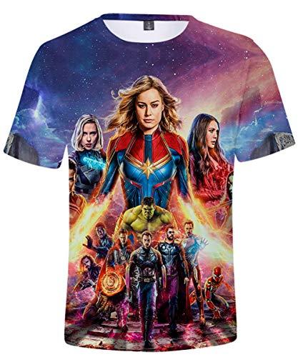 HUASON Vengadores de la camiseta del super héroe de Marvel Quantum Reino héroe manga corta M para Hombres
