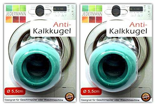 2x Antikalk Waschkugel Ø 5,5 cm Antikalk Ball Waschball Magnetkugeln