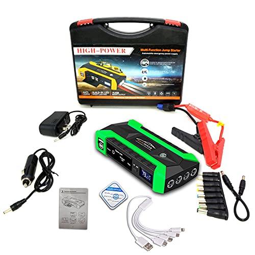 KTT Arrancador de batería de Coche Verde, Cargador portátil para Herramientas eléctricas al Aire Libre Fuente de alimentación de Reserva de Arranque Dual diésel