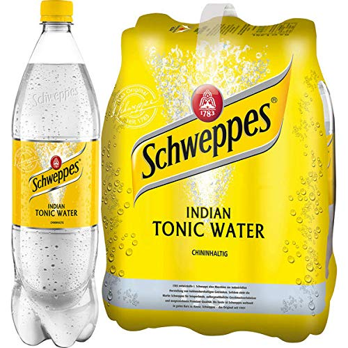 DPG Schweppes Indian Tonic Water 6 x 1,25l (inkl. 1,50 Euro Pfand)