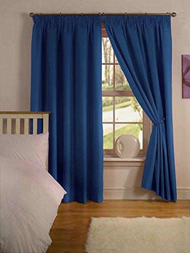 Simply Style Paire de rideaux prêts à poser Envers thermique 66x72in(167x182cm) Madison Blue