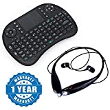 Drumstone Wireless Keyboard with Touchpad Mouse and HBS-730 Stereo Bluetooth Headset for Xiaomi