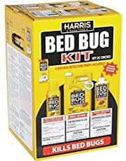 Harris Large Bed Bug Kit Killer Traps Treatment Powder Insect Control Odorless