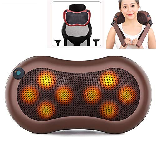 Portable Cervical Massage Pillow Shiatsu Heated Neck and Back Massager Relieve Pressure, Ergonomic Neck Support Pillow The Best Relaxing Gift (Size : Style 1)