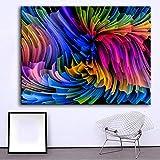 N / A Pintura sin Marco Hilo Colorido óleo sobre Lienzo, Utilizado para la decoración de la Sala de Imagen Mural ZGQ7157 60x80cm