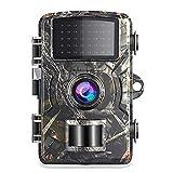 Blusea 12MP 1080P Wildkamera Unterstütze 32 GB TF Card 38 Stück Schwarze Infrarot-LEDs und IP66 Wasserdicht Jagdkamera Nachtsichtkamera, Nur Kamera Ohne TF Card - Best Reviews Guide