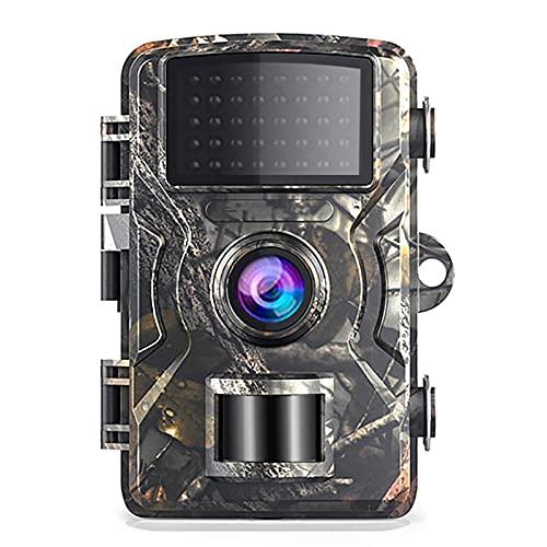 Blusea 12MP 1080P Wildkamera Unterstütze 32 GB TF Card 38 Stück Schwarze Infrarot-LEDs und IP66 Wasserdicht Jagdkamera Nachtsichtkamera, Nur Kamera Ohne TF Card