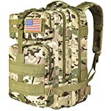CVLIFE Military Tactical Backpack 3 Day Assault Pack Army Rucksack Molle Bag CP
