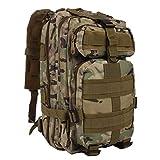 G&X Taktischer Rucksack, Militär-Rucksack, 25 l, Armee-Rucksack, MOLLE-Rucksack, taktischer Kampfrucksack für Outdoor, Wandern, Camping, Trekking, Angeln, Jagd