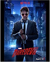 Daredevil (TV Series 2015 - ) 8 inch x 10 inch Photo Charlie Cox Standing in the Street Netflix Poster April 10 kn