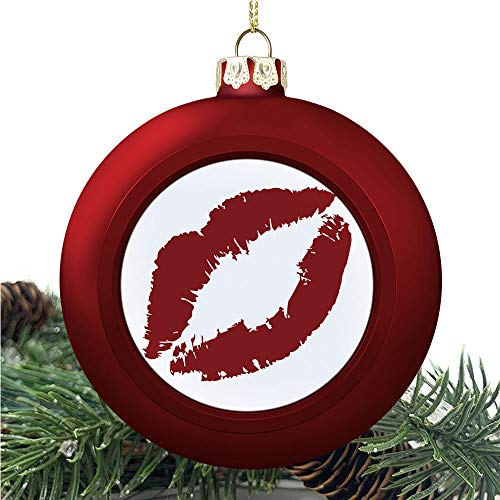 SUPNON Kissprint of Red | Christmas Ball Ornaments 2020 Christmas Pendant Personalized Creative Christmas Decorative Hanging Ornaments Christmas Tree Ornament №YF0571
