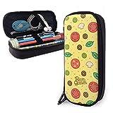 Estuche para lápices con diseño de hojas de tomates y verduras para niños y niñas