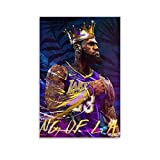 DRAGON VINES Lakers Le-Bron Ja-mes Western Conference Championship Impresión personalizada Póster Lienzo Villa decoración 40x60cm