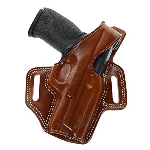 Galco Fletch High Ride Belt Leather Holster, S&W M&P Shield 9/40 & 2.0 9/40, Right, Premium FL652