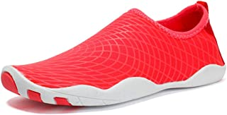 Beach Water Shoes,Slippery Shoes Outdoor Shoes,Ultra-Light Wading, Quick-Drying Unisex Shoes Swimming Shoes,Red,40