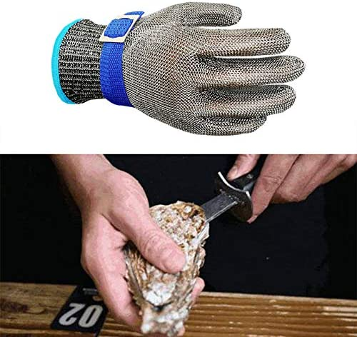 Cut Resistant Gloves 2 Pcs Stainless Steel Wire Mesh Cut Resistant Gloves Rustproof Reliable product image