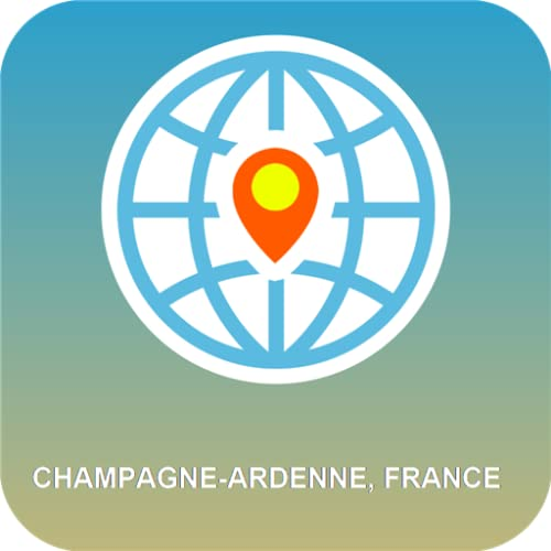 Champagne-Ardenne, Frankreich Karte