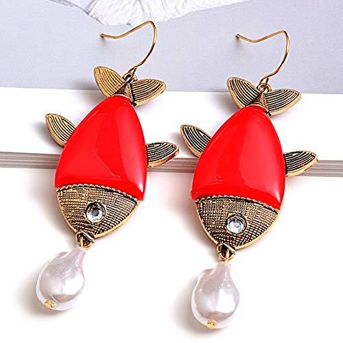 DJMJHG Pendientes Largos de Resina de Moda, Pendientes Colgantes, Accesorios de joyería para Mujeres, Día de San Valentín2