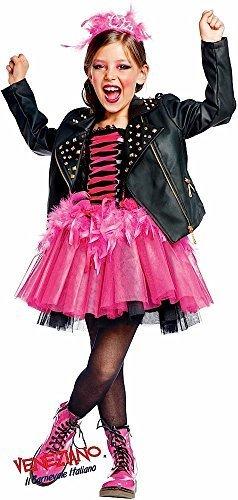 Fancy Me Italian Made Baby, Kleinkinder &ältere Mädchen Prestige Sammlung Super Deluxe Rock Star Lederjacke & Tutu Kleid Kostüm Kleid Outfit 0-12 Jahre - Schwarz, 11 Years