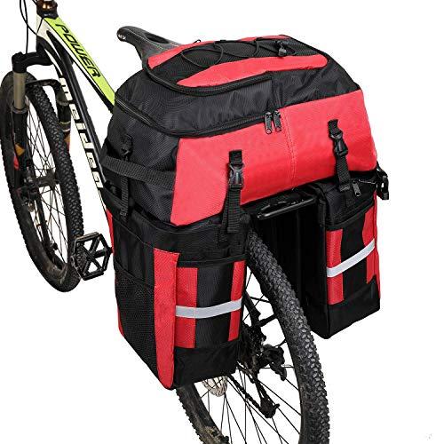 ZHTY 70L MTB Bike Impermeable 3 en 1 Bolsa de Bicicleta Trasera Bolsas de Maletas Bolsa de Bicicleta con Cubierta para Lluvia