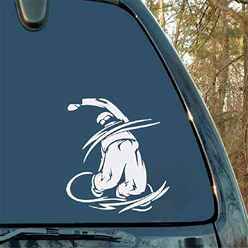 Dit is een Snowboarding Die Cut Sticker of Decal. Geweldige Cool Graphics voor Motorfiets Of Laptop voor Auto Laptop Window Sticker