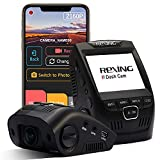 Rexing V1 - 4K Ultra HD Car Dash Cam 2.4' LCD Screen, Wi-Fi, 170° Wide Angle Dashboard Camera Recorder with G-Sensor, WDR, Loop Recording, Supercapacitor, Mobile App, 256GB Supported (Renewed)